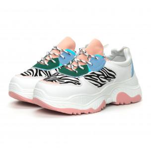 Γυναικεία πολύχρωμα αθλητικά παπούτσια Chunky με animal μοτίβα 2