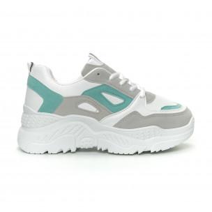 Γυναικεία πράσινα αθλητικά παπούτσια Chunky 2