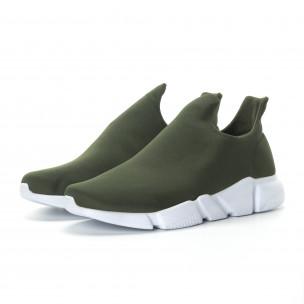 Ανδρικά πράσινα νεοπρέν αθλητικά παπούτσια Slip-on  2