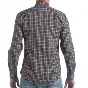 Ανδρικό καρέ πουκάμισο Slim fit Casual  2