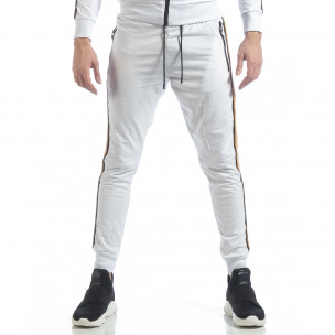 Ανδρική λευκή φόρμα 5 striped  2
