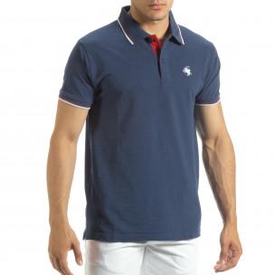 Ανδρική μπλέ polo shirt