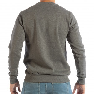 Ανδρική γκρι μπλούζα με στάμπα  2