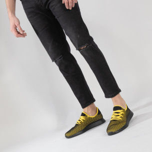 Ανδρικά κίτρινα αθλητικά παπούτσια Mesh ελαφρύ μοντέλο 2