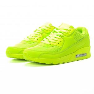 Ανδρικά πράσινα αθλητικά παπούτσια με αερόσολα  2