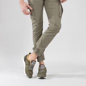 Ανδρικά πράσινα αθλητικά παπούτσια με κορδόνια