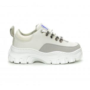 Γυναικεία λευκά αθλητικά παπούτσια Lovery 2