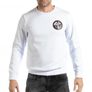 Ανδρική λευκή μπλούζα με ανατολίτικο μοτίβο