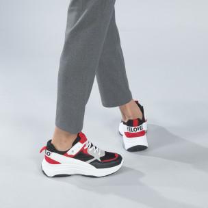 Γυναικεία sneakers από συνδυασμό χρωμάτων με πλατφόρμα  2