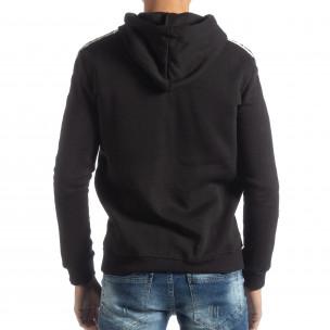 Ανδρικό μαύρο φούτερ με επένδυση ICONS 2