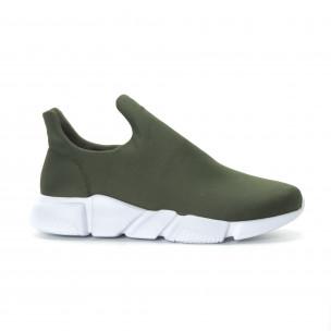 Ανδρικά πράσινα νεοπρέν αθλητικά παπούτσια Slip-on