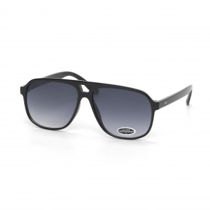 c6bb8d4742 Ανδρικά μαύρα γυαλιά ηλίου με φακούς καθρέφτη it250418-39 ...