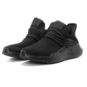 Ανδρικά μαύρα αθλητικά παπούτσια ελαφρύ μοντέλο 2
