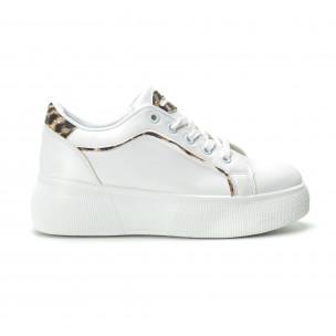 Γυναικεία λευκά sneakers Animal print