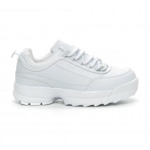 Γυναικεία λευκά αθλητικά παπούτσια Chunky