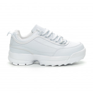 Γυναικεία λευκά αθλητικά παπούτσια Naban