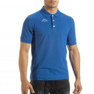 Ανδρική γαλάζια polo shirt Kappa regular fit