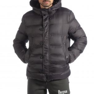 Ανδρικό σκούρο γκρι χειμερινό μπουφάν   2