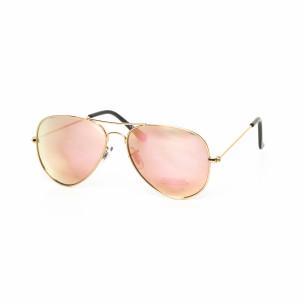 Ανδρικά ροζ γυαλιά ηλίου πιλότου