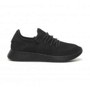 Ανδρικά μαύρα αθλητικά παπούτσια Mesh