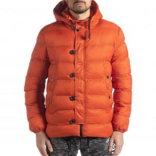 Ανδρικό πορτοκαλί χειμερινό μπουφάν   2