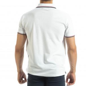 Ανδρική λευκή  polo shirt   2