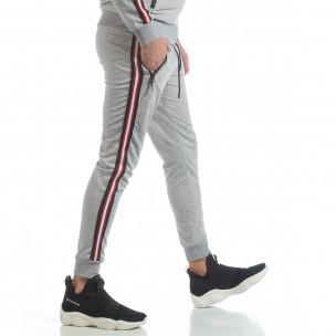 Ανδρική γκρι φόρμα 5 striped