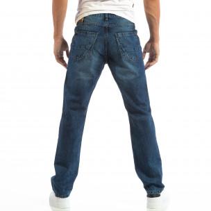 Ανδρικό γαλάζιο τζιν Regular fit με ξεθωριασμένο εφέ House 2