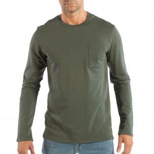 Ανδρική πράσινη βαμβακερή μπλούζα