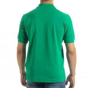 Ανδρική πράσινη polo shirt Kappa regular fit  2