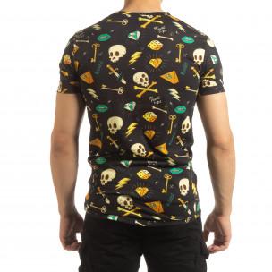 Ανδρική πολύχρωμη κοντομάνικη μπλούζα Skull  2