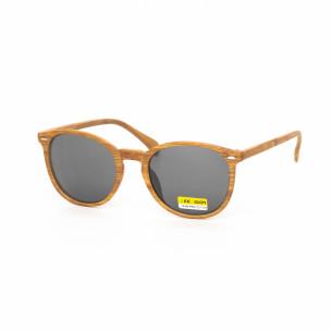 Ανδρικά μαύρα γυαλιά ηλίου ξύλινο μοτίβο natural