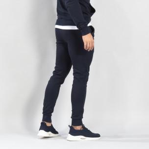 Ανδρική σκούρα μπλε βαμβακερή φόρμα Basic