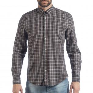 Ανδρικό καρέ πουκάμισο Slim fit Casual