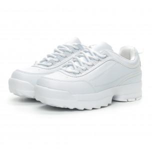 Γυναικεία λευκά αθλητικά παπούτσια Chunky  2