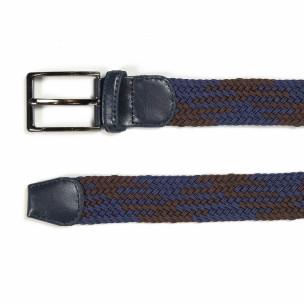Ανδρική ζώνη σε μπλε και καφέ χρώμα