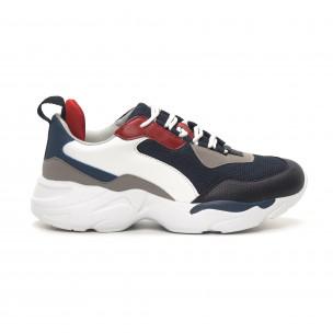 Ανδρικά μπλε αθλητικά παπούτσια Chunky