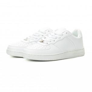 Ανδρικά λευκά sneakers skater μοντέλο  2