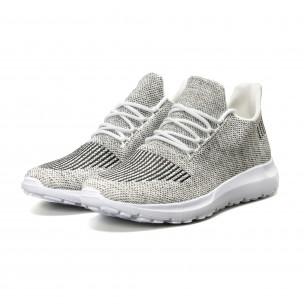 Ανδρικά λευκά μελάνζ αθλητικά παπούτσια  2