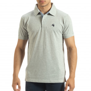 Ανδρική γκρι  polo shirt  Gianfranco Buroni