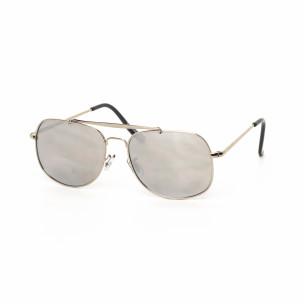 Ανδρικά γκρι γυαλιά ηλίου με ασημί σκελετό