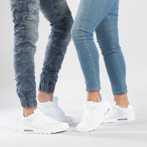 Λευκά sneakers για ζευγάρια με αερόσολα