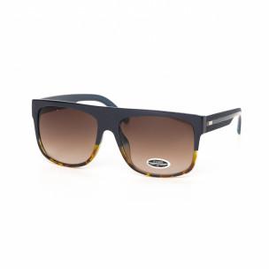 Urban ανδρικά καφέ γυαλιά ηλίου με μπλε σκελετό