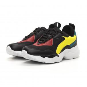 Ανδρικά μαύρα αθλητικά παπούτσια Chunky  2