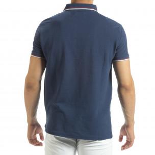 Ανδρική μπλέ polo shirt   2