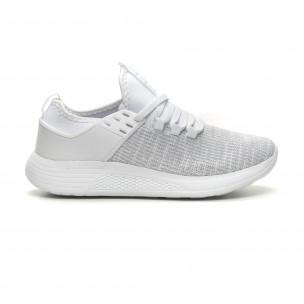 Ανδρικά λευκά μελάνζ αθλητικά παπούτσια ελαφρύ μοντέλο Crucian
