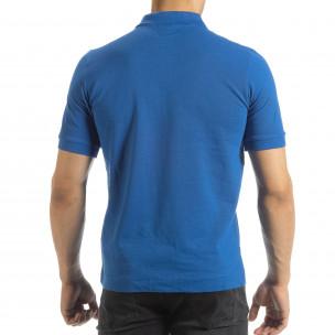 Ανδρική γαλάζια polo shirt Kappa regular fit  2