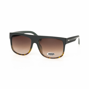 Urban ανδρικά καφέ γυαλιά ηλίου με λεοπάρ λετομέρειες
