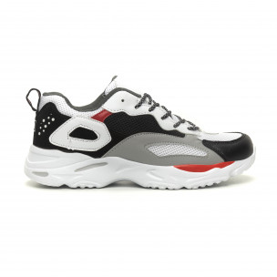 Ανδρικά Chunky αθλητικά παπούτσια σε άσπρο