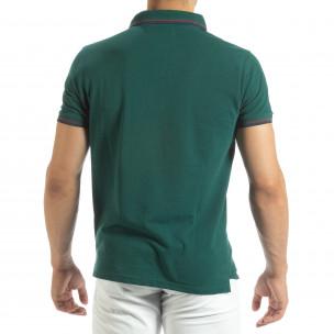 Ανδρική πράσινη polo shirt   2